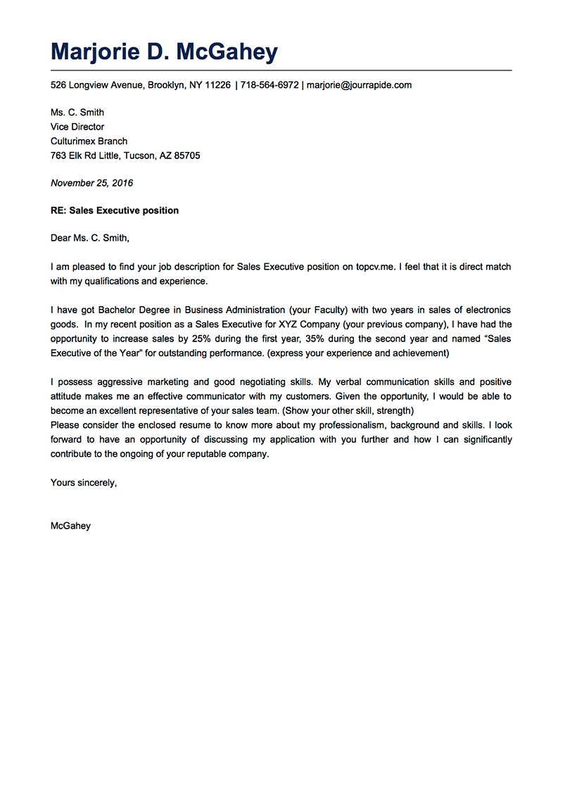 Sample Professional Cover Letter For Resume from www.goodcv.com