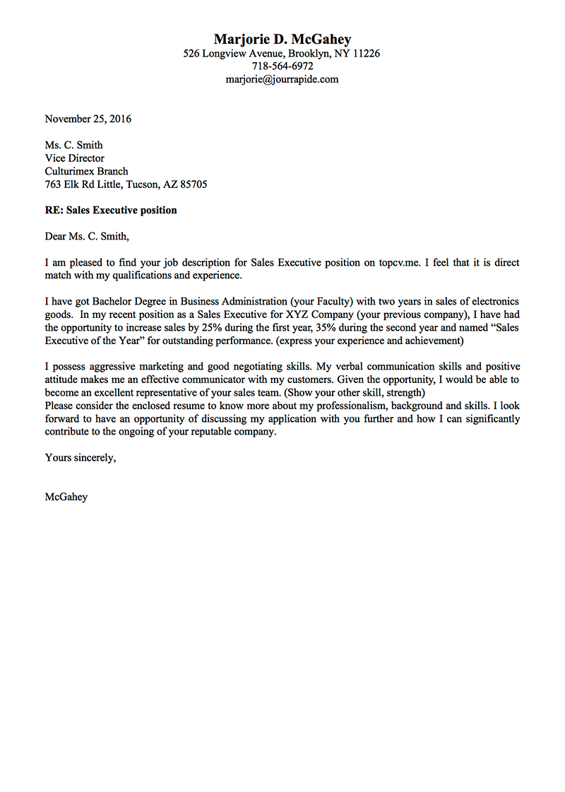 Professional Cover Letter templates with examples - TopCV.me