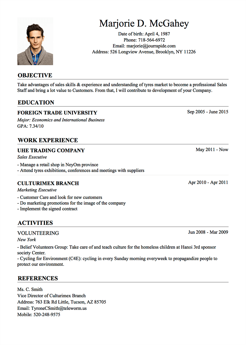 Good Me Resume Idea About Me Resume