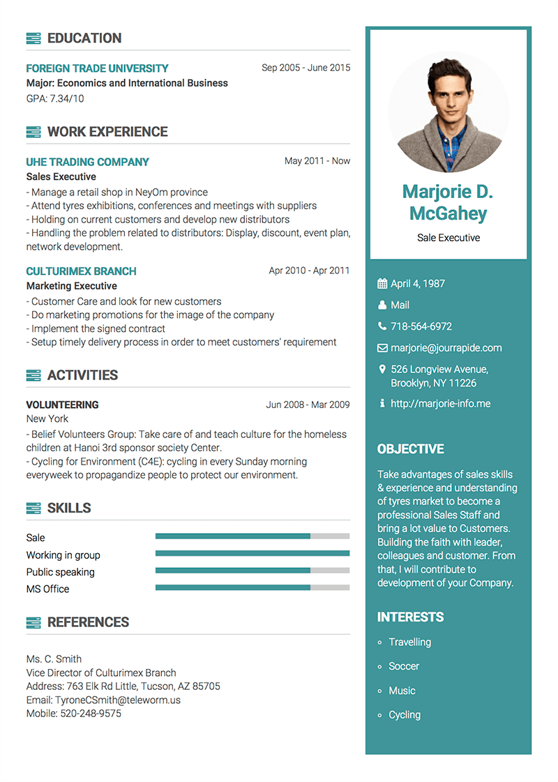 collection of impressive resume template