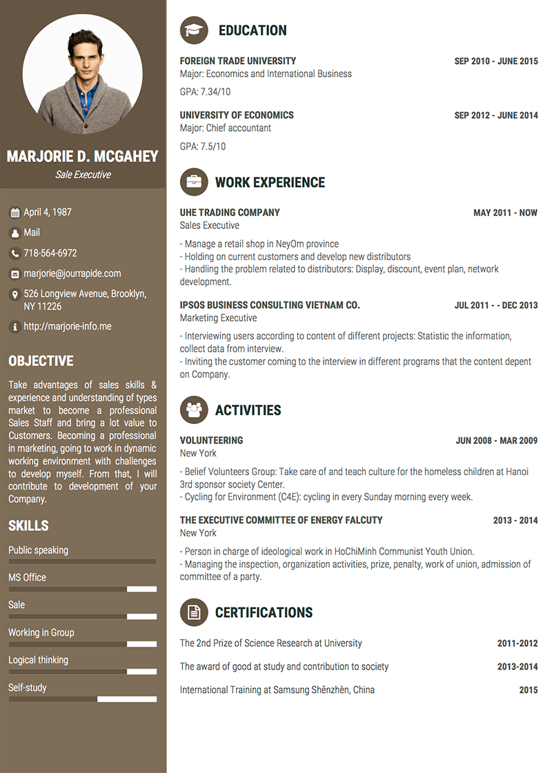 Sample CV Design Director  How To Make Resume One Page