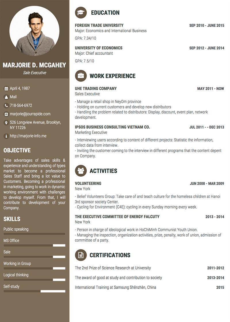 template-cv-Impressive Pro