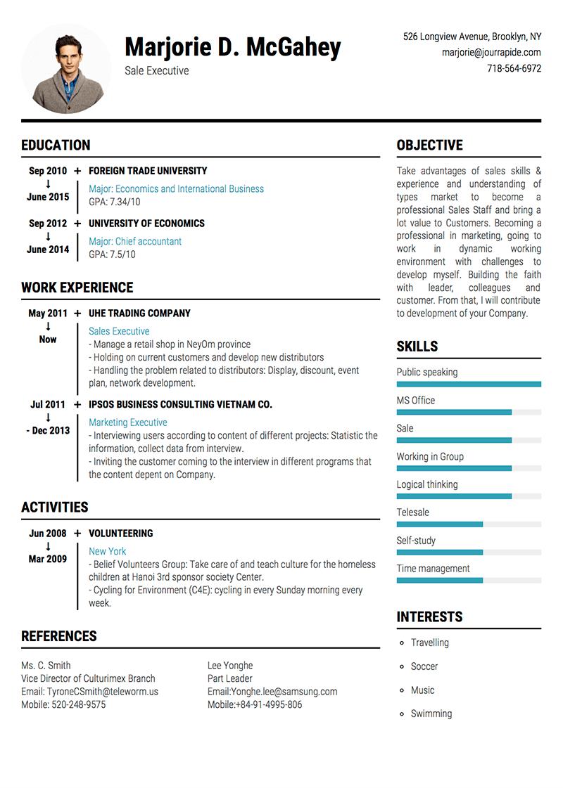 template-cv-Timeline Clean