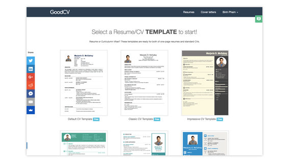 topcv beautiful resume templates